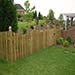 Lawn with fencing