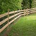 Lawn with wooden fence